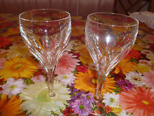 Lot (2) Baccarat Crystal GENOVA Very Tall Water Goblet (s)  8""