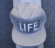 LIFE LOGO GRAY/CHARCOAL MENS DIAMOND SUPPLY CO. 5 PANELS CAMPER SNAPBACK HAT
