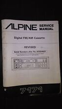 Alpine 7171 Service Manual Original car radio tuner cassette tape player revised