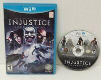 Injustice: Gods Among Us - Nintendo Wii U Game Tested & Working