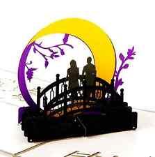 3D ~ TWILIGHT~ MOON  pop up Greeting Invitation Card WEDDING ANNIVERSARY PROPOSE