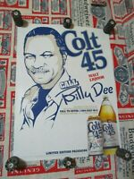 Posters, Prints Colt 45 Malt Liquor Beer Poster ~ Billy Dee Williams Exclusive Lounge Party Art