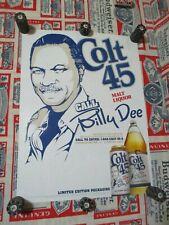 New Vtg 2016 Colt 45 Beer Billy D Dee Williams Ladies Man In Motion Bar Pub Sign