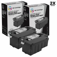 LD Compatible Xerox 106R02759 2PK Black Toner Cartridges for 6022/6027