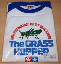 """Tamiya 66830 The Grasshopper T-Shirt with Long Sleeves, White/Blue (L) 40"""" Chest"""