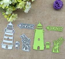 DIY Metal Beach Lighthouse Cutting Die Scrapbooking Album Card Paper Stencil Hot