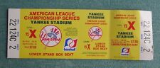 NEW YORK YANKEES AMERICAN LEAGUE CHAMPIONSHIP SERIES LOWER STAND BOX SEAT TICKET