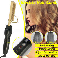 Portable Electric Hair Curler Comb Curling Iron Straightener Comb Multi Function