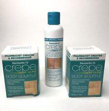 Dermactin-TS Body Souffle 3 oz (2) Crepe Be Gone Exfoliating Body Polish 6 oz