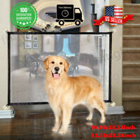 Pets Dog Cat Baby Safety Folding Gate Mesh Fence Separation Guard Stairs Doors