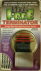 Action Terminator Nit Free Lice Comb essential Stainless Steel home virus stop
