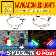 60CM LED SIGNAL NAV NAVIGATION LIGHT STRIP WATERPROOF PORT STARBOARD MARINE BOAT
