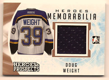 DOUG WEIGHT 2016-17 LEAF ITG HEROES & PROSPECTS GAME USED JERSEY RELIC