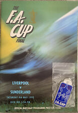 More details for liverpool v sunderland fa cup final 1992 with key ring & poster