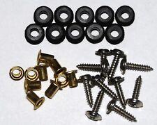 10 Sets of Servo Grommets, Eyelets & Screws for Futaba, HiTec, JR and Others