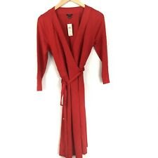 Ann Taylor Womens Wrap Dress 3/4 Sleeve Front Fit Flare Stretchy Red Size 6