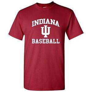 Indiana Hoosiers Arch Logo Baseball T-Shirt - Cardinal