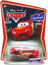 Disney Pixar Cars Movie Mattel Diecast Supercharged Tongue Lightning McQueen