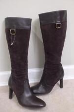 J.CREW Women's Brown Suede leather Heel Boots Size 7 #70665 (bota1400