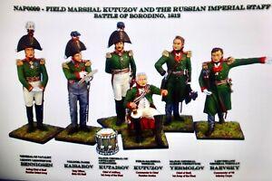 First legion NAP0099 60mm Napoleonic Russian imperial staff 6 figs 2016  mib oop