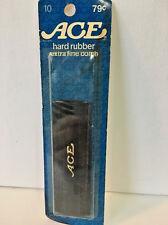 Vintage Ace Mustache Comb Black Hard Rubber Pocket Size Extra Fine Double Sided
