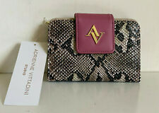 NEW! ADRIENNE VITTADINI SNAKE PRINT FRENCH PURSE WALLET W/ RFID BLOCKING SALE