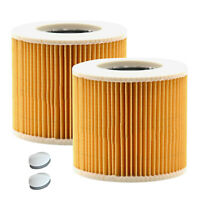 2pcs Cartridge Filter For Karcher WD2 WD3 Series Wet & Dry Vac Vacuum Cleaner