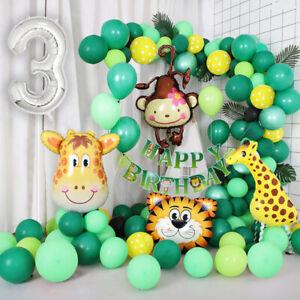 Jungle Themed 3rd Birthday Balloon Arch Decoration DIY Kit - Over 75 Balloons
