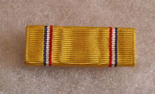 WWII EARLY USMV/USN FAT AMERICAN DEFENSE RIBBON BAR MOUNTED WITH GILT SAFETY PIN