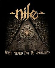 NILE cd cvr WHAT SHOULD NOT BE UNEARTHED Official TOUR SHIRT MED new
