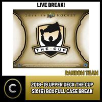 2018-19 UPPER DECK THE CUP 6 BOX (FULL CASE) BREAK #H526 - RANDOM TEAMS