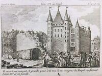 Marie Antoinette prison du Temple 1792 Louis 16 Gravure Révolution Française