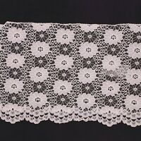 Pale Pink Floral Flat Lace Trimming 6 inch 15 CM 150mm to orde