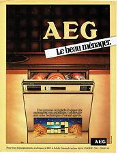 Publicité Advertising 038  1981   AEG  lave-vaisselle encastrable