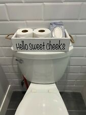 Nice butt, hello sweet cheeks wood bathroom Box, Toilet Paper wooden holder