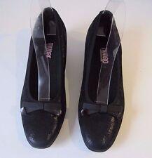 Munro Demi Women's Black Shimmering Fabric Wedge Heels Slip On Shoes Sz 8 M $198