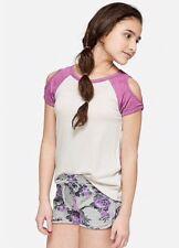Justice Girl's Cold Shoulder Raglan Tee Size 18-20 NWT