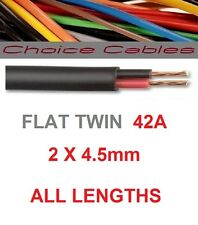 AUTOMOTIVE FLAT TWIN CABLE 2 CORE 12 VOLT 4.5mm 42 AMP AUTO CAR VEHICLE WIRE 1m