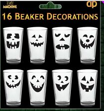 Halloween 16 Cup Wine Bottle Glass Labels Stickers for Beaker Cups Decoration