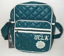 UCLA Umhängetasche Flightbag Schultasche petrol dunkelgrün Wabenmuster seitlich