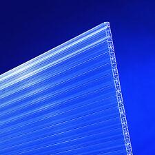 (16,20 € / m²) Stegplatten Hohlkammerplatten Polycarbonat 16 mm X-Struktur klar