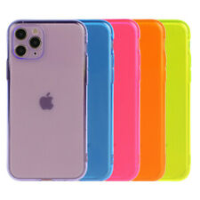 Neon Fluorescent Clear Soft Phone Case Cover For iPhone SE 2020 11 Pro Max XS XR