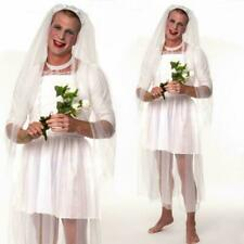 Mens Wedding Dress Stag Do Night Party Funny Fancy Dress Costume Bride Groom