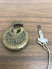 Vintage Miller Lock Co. Champion 6-Lever Push Key Lock With Key Works!!