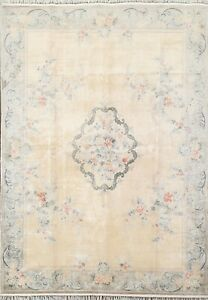 Vintage Silk Floral Art Deco Chinese Oriental Area Rug Hand-knotted 6x8 Carpet