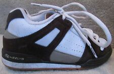 Heelys Switch Roller Shoes Mens Size 4 Style 7220 White Brown Great Shape