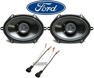 """Hifonics 6x8"""" Front Car Speaker Replacement Kit For 2000-2010 Ford F-650/750"""