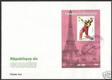 GUINEE 2000 MILLENNIUM BRIAN LARA CRICKET S/Sheet FDC