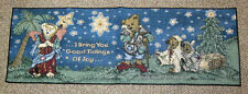 Boyds Bears Christmas Holiday Pageant Tapestry Table Runner