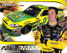 PAUL MENARD 2011 QUAKER STA TE #27 NASCAR POSTCARD